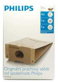 Worki papierowe Philips HR6947 kpl.4 szt + filtry wlot wylot