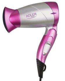 Turystyczna suszarka do włosów ADLER AD223 w kolorze różowym