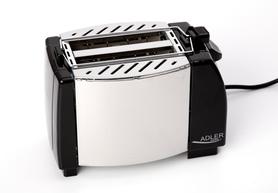 Czarno-srebrny toster ADLER AD 35