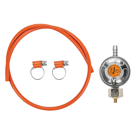 Reduktor gazowy niskiego ciśnienia, 37mbar, 1,5kg/h zestaw z wężem i zaciskami