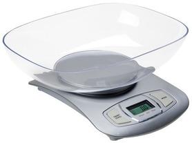 Elektroniczna, w rebrnym kolorze waga kuchenna dokładność 1 gram ADLER AD 3137S