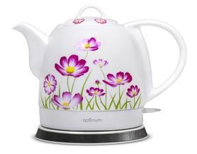 Ceramiczny, elektryczny czajnik wzór kwiaty, OPTIMUM CJS 1310