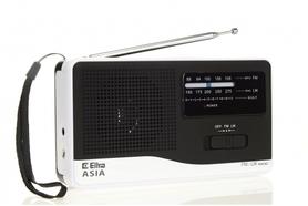 Radioodbiornik Eltra Asia model 810 czarno-biały bateryjne